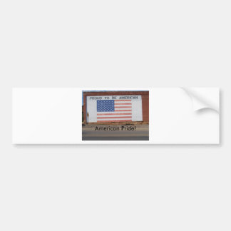 American Flag painted on old building Car Bumper Sticker