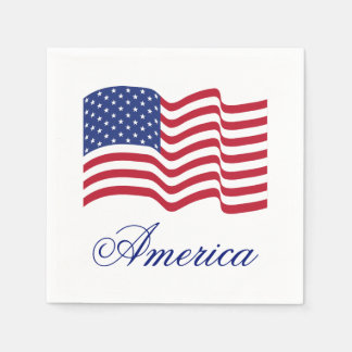 American Flag Paper Party Summer Napkins Disposable Napkin