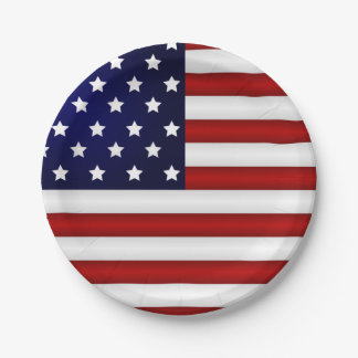 American Flag Paper Plates 7 Inch Paper Plate
