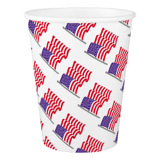 American Flag Party Supplies Paper Cup