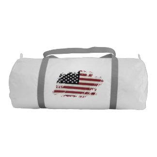 American Flag Patch. Gym Duffel Bag