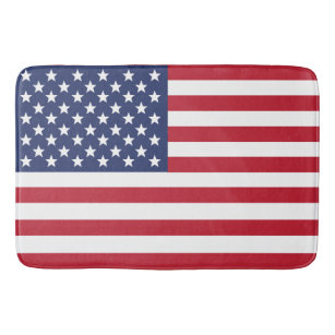 American Flag Patriotic Bath Mat in 3 Sizes