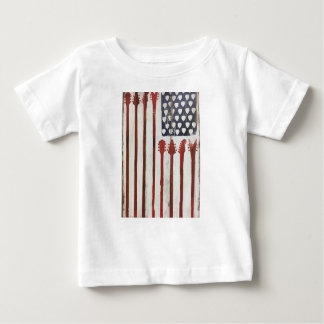 American Flag patriotic Guitar Music theme Baby T-Shirt