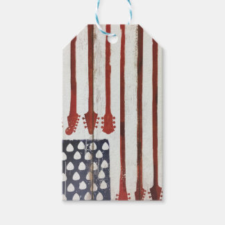 American Flag patriotic Guitar Music theme Gift Tags