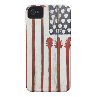 American Flag patriotic Guitar Music theme iPhone 4 Cover