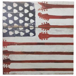 American Flag patriotic Guitar Music theme Napkin