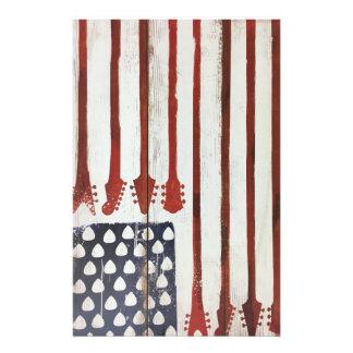 American Flag patriotic Guitar Music theme Stationery Design