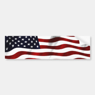 American Flag Patriotic Independence Day Bumper Sticker