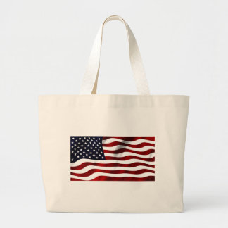 American Flag Patriotic Independence Day Jumbo Tote Bag