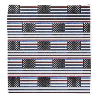American Flag Patriotic Red White Blue Bandanna
