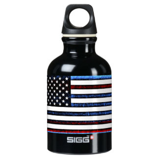 American Flag Patriotic Red White Blue Water Bottl Water Bottle