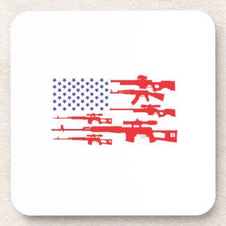 American Flag Patriotic Usa Pride Gun A Pro Gun Coaster