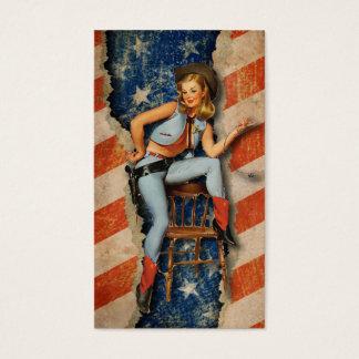 American Flag Patriotic Western Business Cards