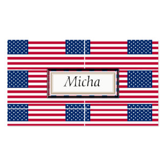 American Flag Pattern Monogram Pack Of Standard Business Cards