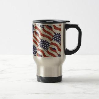 American Flag Pattern Travel / Commuter Mug
