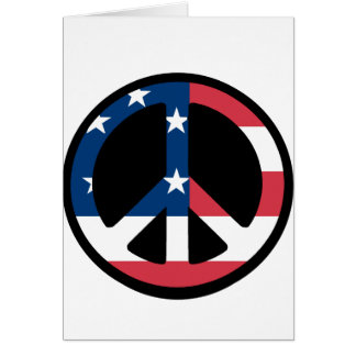 American Flag Peace Greeting Card