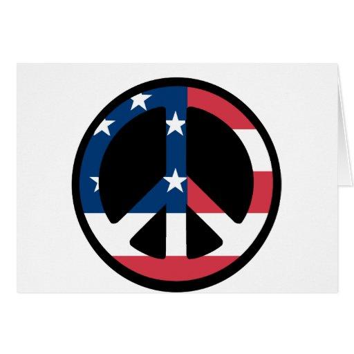 American Flag Peace Card