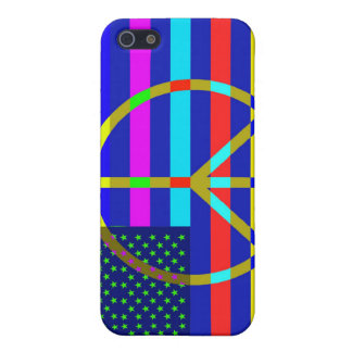 American Flag Peace iPhone 5 Cover