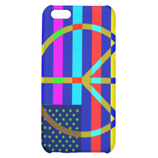 American Flag Peace Case For iPhone 5C