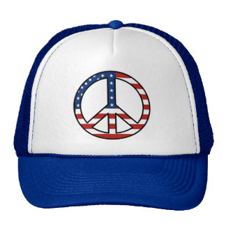American Flag Peace Sign Hat