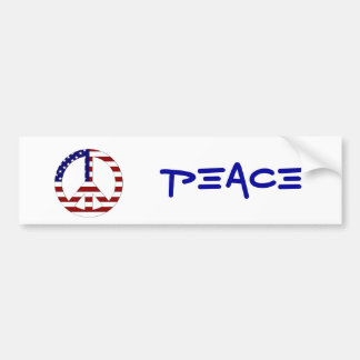 American Flag Peace sign USA Bumper Stickers