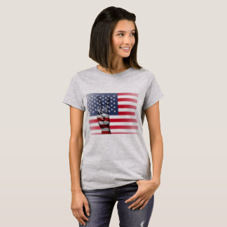 American Flag Peace Sign Womens Shirt