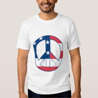 American Flag Peace Symbol flag Shirts