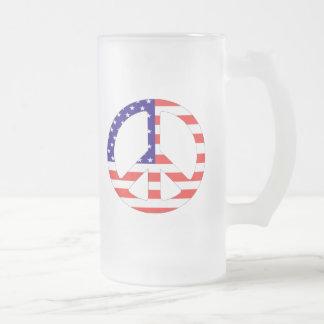 American Flag Peace Symbol Coffee Mug