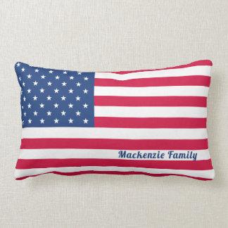 American Flag | Personalized Family Lumbar Cushion