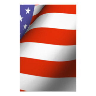 American Flag Personalized Stationery