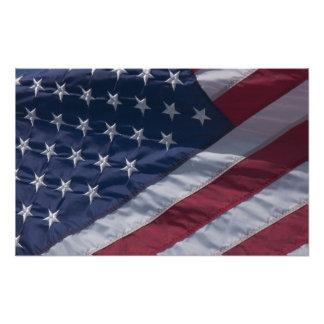 American flag. photo art