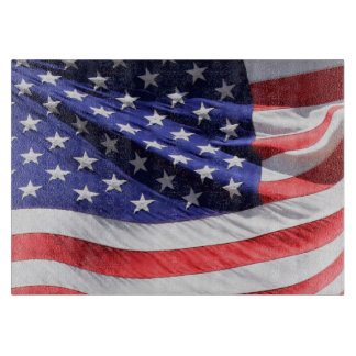 American Flag Photo | USA Red White and Blue Cutting Board