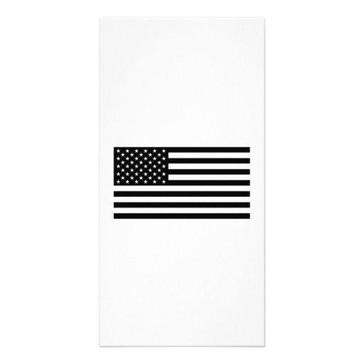 American Flag Customized Photo Card