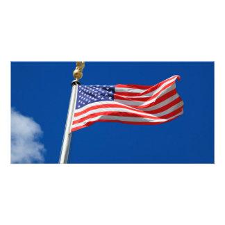 American Flag Photo Card Template