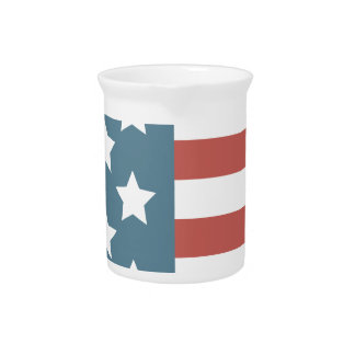 American Flag Pitcher