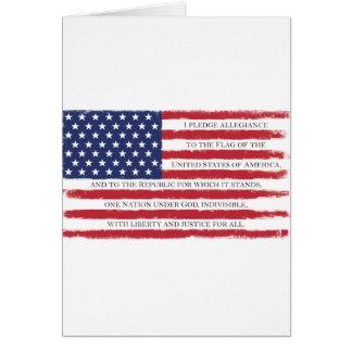 American flag Pledge Vintage Card