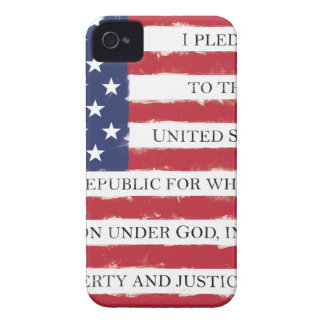 American flag Pledge Vintage Case-Mate iPhone 4 Cases