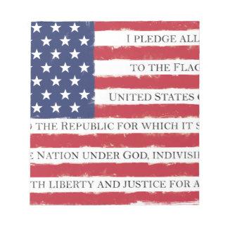 American flag Pledge Vintage Notepad