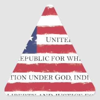 American flag Pledge Vintage Triangle Sticker