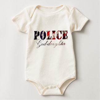 American Flag Police Goddaughter Baby Bodysuit