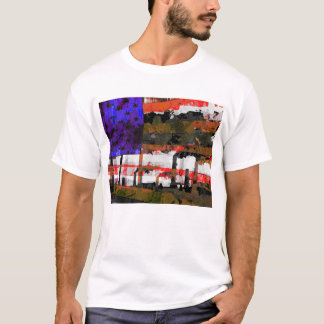 American Flag Pollution Pop Art T-Shirt