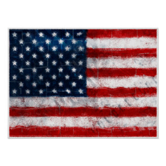 American Flag Portrait Poster