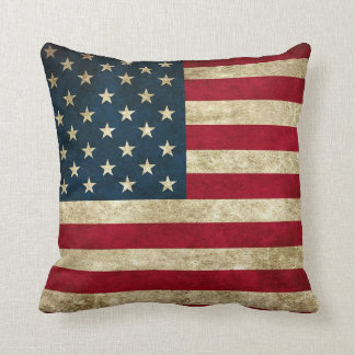 American Flag Pride Throw Pillow