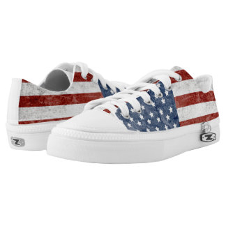 American flag printed shoes