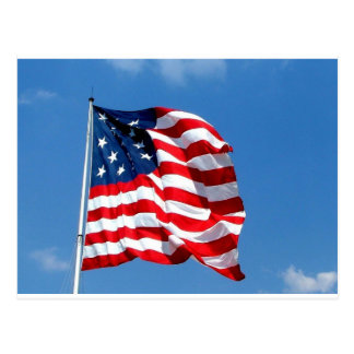 American Flag products Postcard