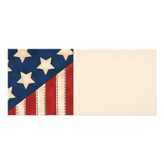 American Flag Rack Card