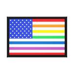 American Flag Rainbow Colours Stars & Stripes USA