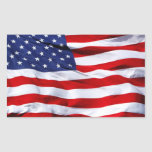 American Flag Rectangular Stickers