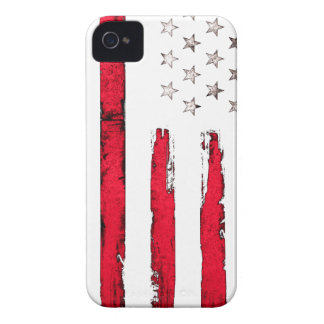 American flag Red Grunge iPhone 4 Case-Mate Cases