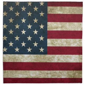 American Flag Red White And Blue Flag Napkin
